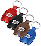 Leather Look LED Key Tags